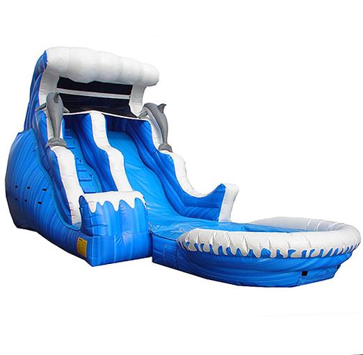 Double Drop Wave Slide/Pool