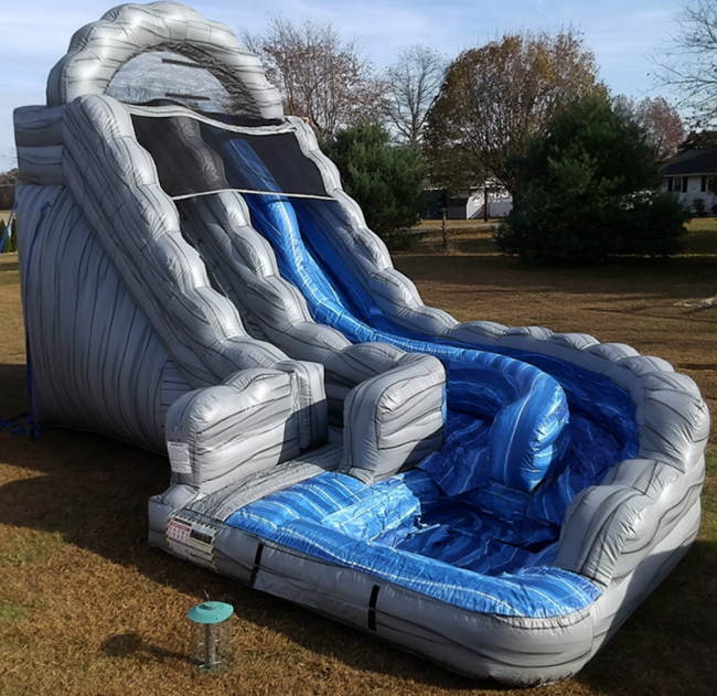 18' Mt Rushmore Dual Lane Water Slide