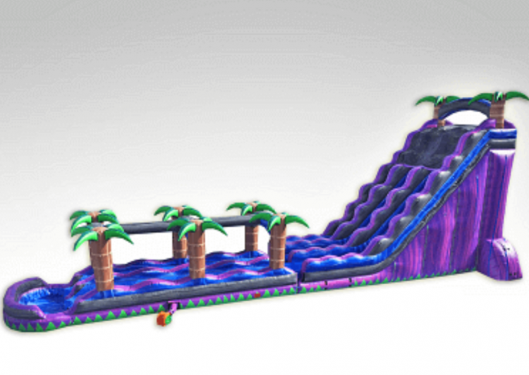 27' Purple Crush Dbl Lane with Slip & Slide