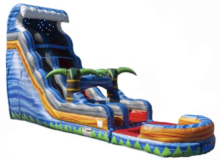 18 ft Fire blaster Tsunami Water slide:pool